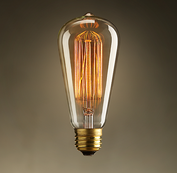 Vintage Squirrel-Cage Teardrop Filament Bulb