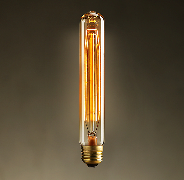 vintage cylinder filament bulb 1 diam 7 l. Black Bedroom Furniture Sets. Home Design Ideas