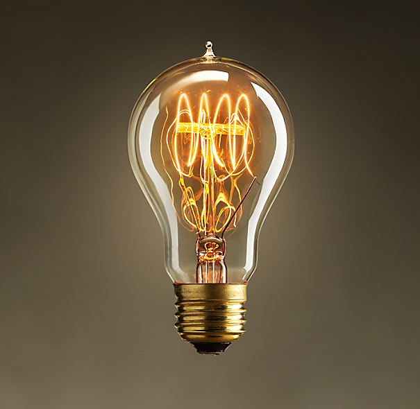 EXPOSITION QUAD-LOOP FILAMENT BULB