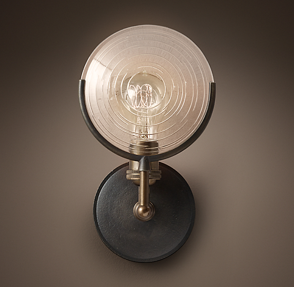 Restoration Hardware Replacement Light Bulbs: Gaslight Lens Sconce