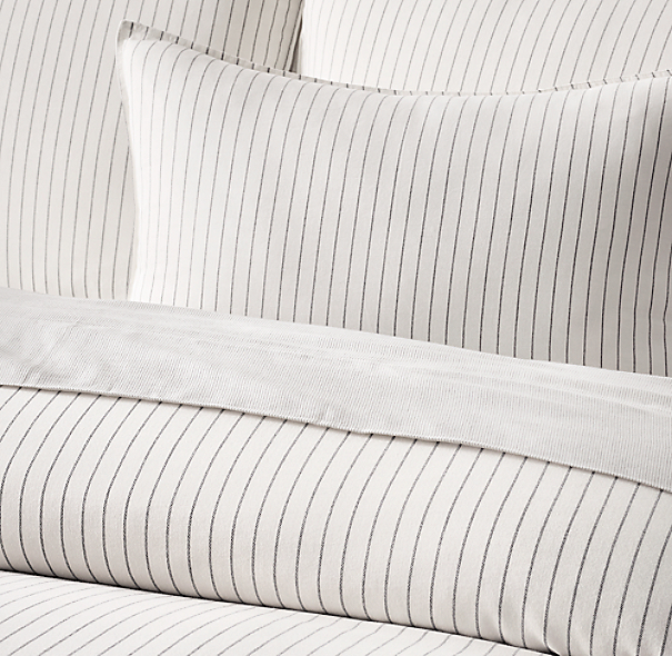 Soft Cotton Pinstripe Bedding Collection
