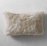 Ultra Faux Fur Lumbar Pillow Cover - Dune