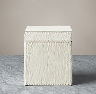 Brazilian Hide Canister - Ivory