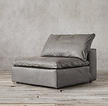 Preconfigured Cloud Modular Leather Sofa