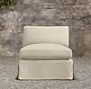 Belgian Slope Arm Outdoor Armless Chair