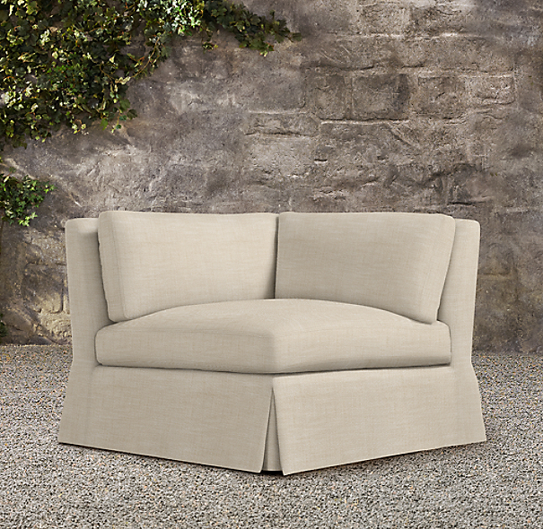 Belgian Slope Arm Outdoor Corner Chair