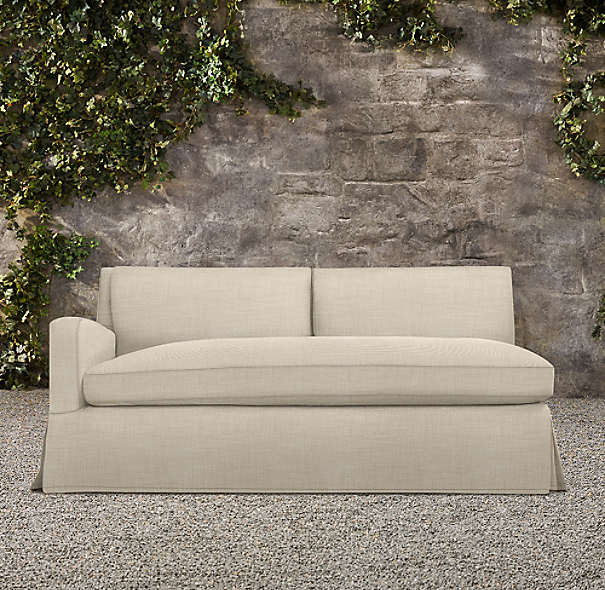 Belgian Slope Arm Outdoor Left-Arm Sofa