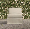 Belgian Track Arm Outdoor Armless Chair