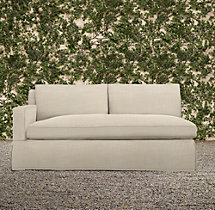 Belgian Track Arm Outdoor Left-Arm Sofa