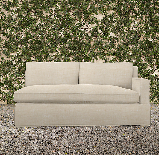 Belgian Track Arm Outdoor Right-Arm Sofa