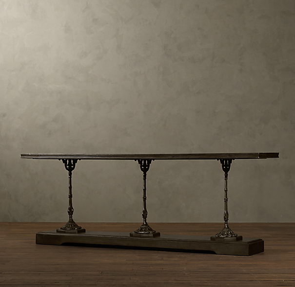 19th C. French Zinc and Cast Iron Console Table