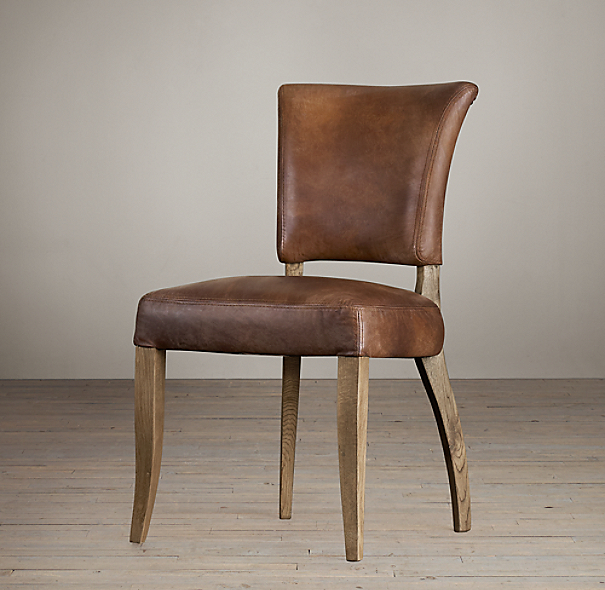 ad le leather side chair