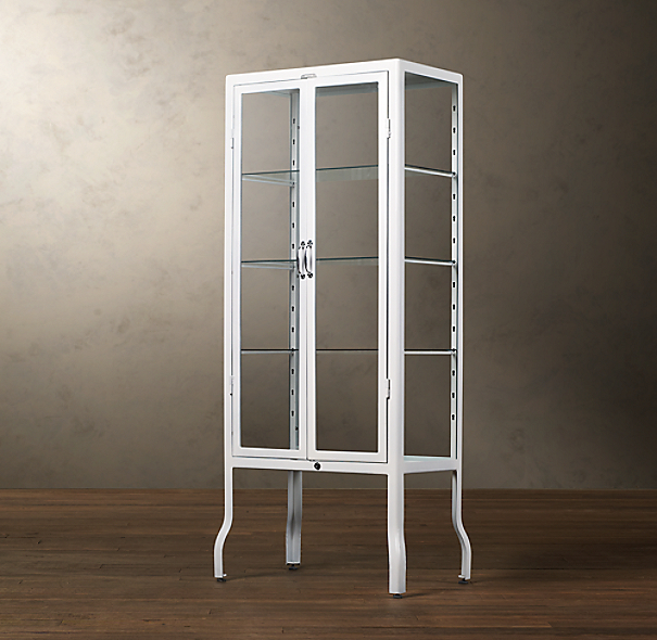 Pharmacy Large Bath Cabinet White