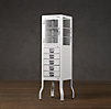 Pharmacy Large Bath Cabinet with Drawers White