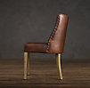 1940s French Leather Barrelback Chair