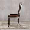 Vintage French Nailhead Leather Side Chair