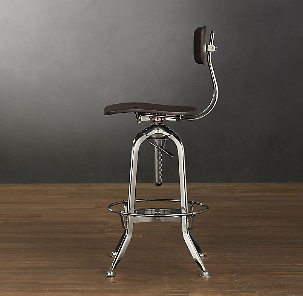 Vintage Toledo Bar Chair Polished Chrome