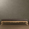Louis XV Scalloped Bench