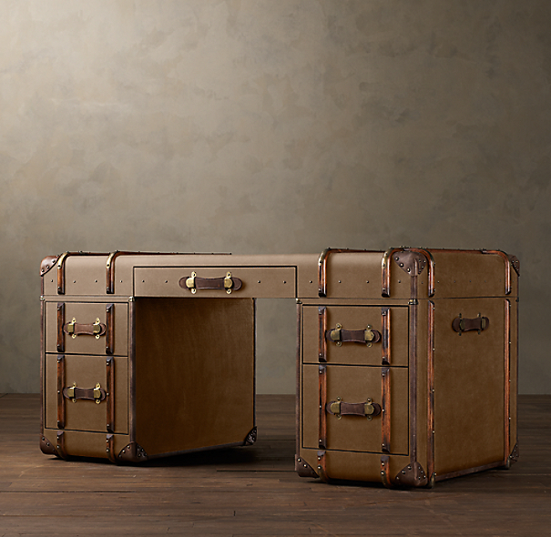 Richards' Canvas Trunk Desk