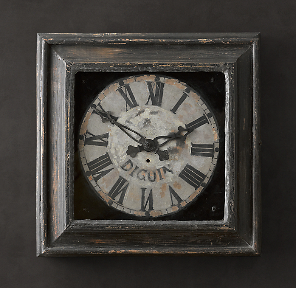 19th C. Framed Digoin Clock