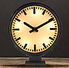 Metro Lighted Train Station Clock