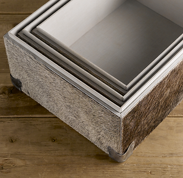 Hair-on-Hide Storage Boxes