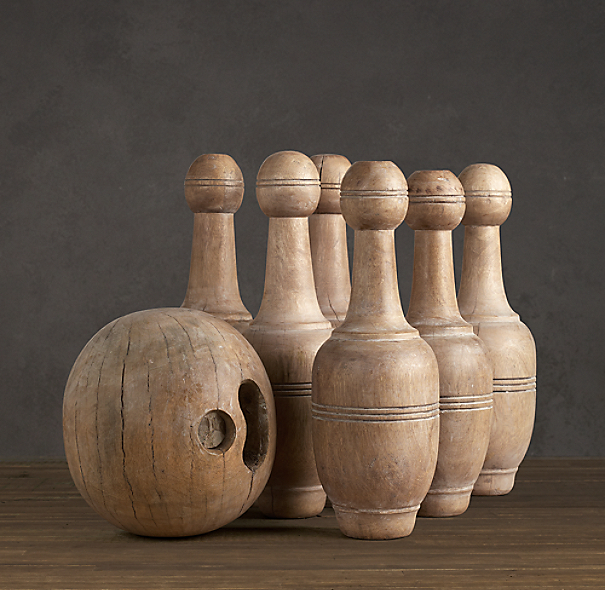 1920s French Bowling Set