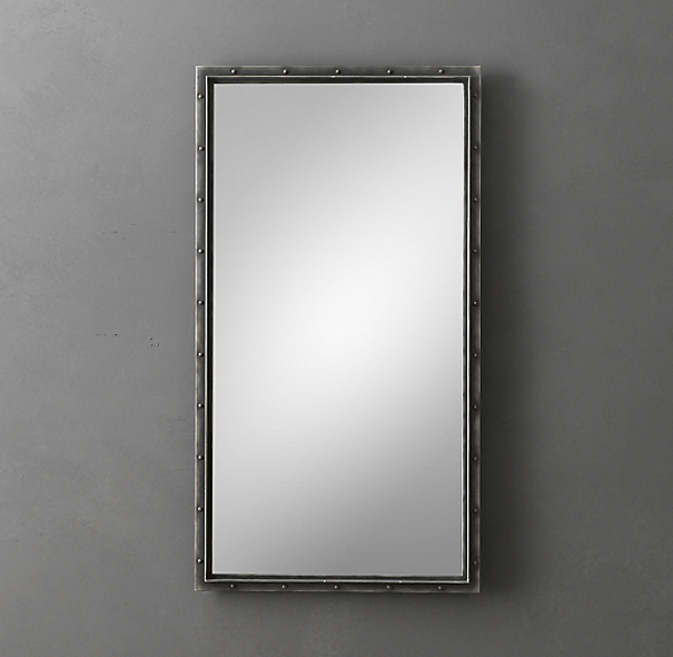 Antiqued Riveted Mirrors