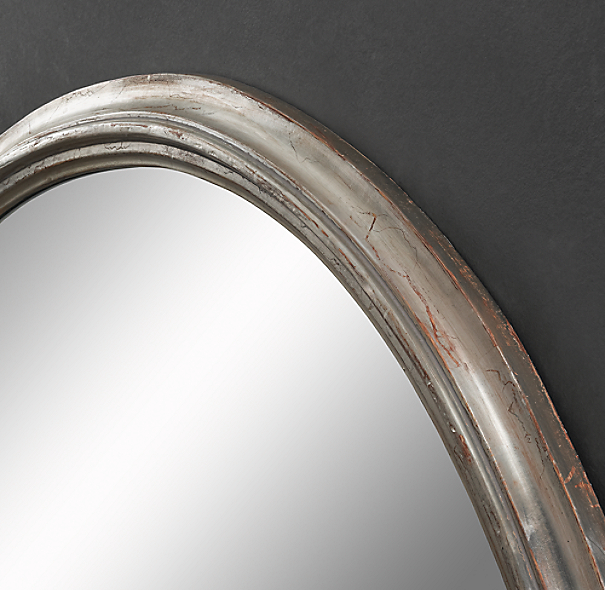 Antiqued Neoclassical Silver-Leaf Mirrors