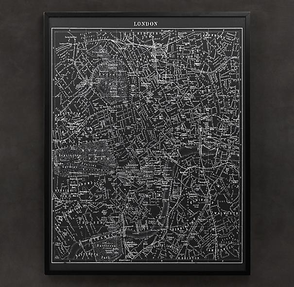 1900s Lithograph Map of London