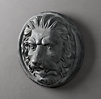 Neoclassical Zinc Lion Medallion