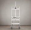 Polished-Nickel TV Easel