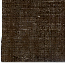 Distressed Wool Rug Chocolate