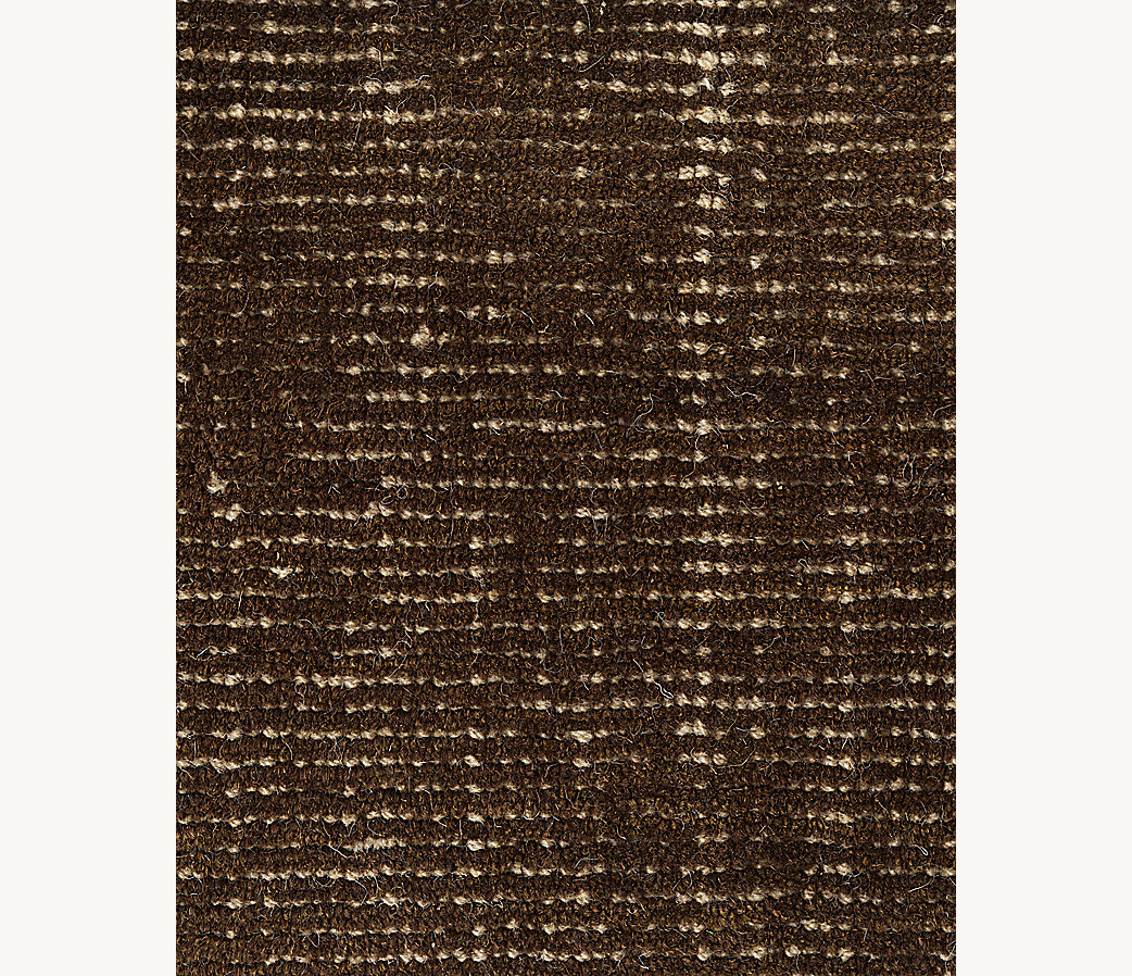 Distressed Wool Rug - Chocolate