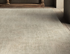 Heathered Wool Rug - Cream