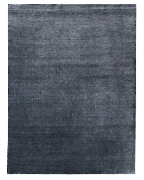 Heathered Wool Rug - Charcoal
