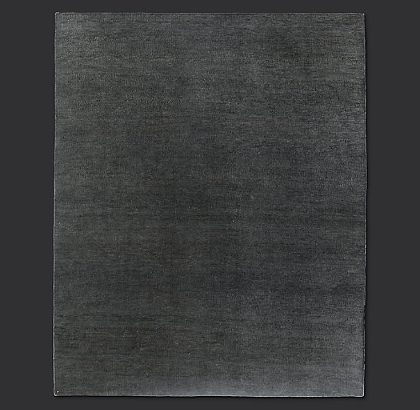 Flatweave Solid Rug Swatch Charcoal