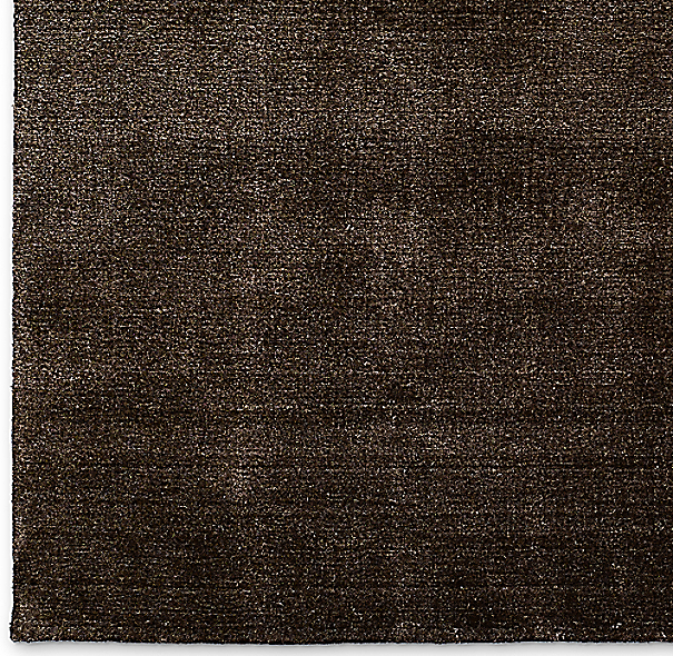 Pura Heathered Striped Rug Swatch - Chocolate