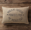 Vintage French Grain-Sack Linen Lumbar Pillow Cover