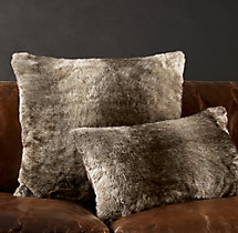 Luxe Faux Fur Pillow Covers - Mink