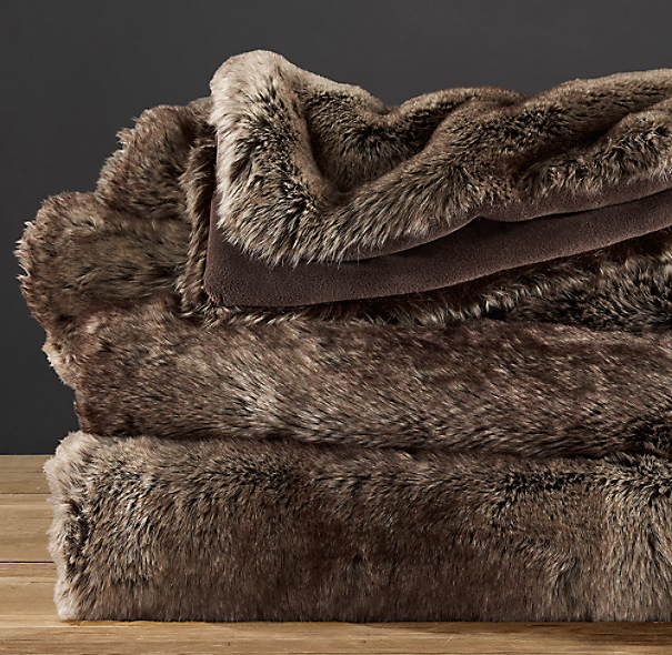 Luxe Faux Fur Throw - Mink