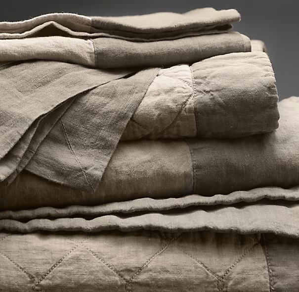 Stonewashed Framed Belgian Linen Bed Skirt