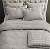 Vintage-Washed Tufted Belgian Linen Sham