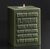 English Garden Pillar Candle