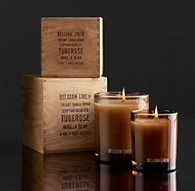 Belgian Linen Filled Candle