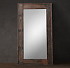 Salvaged Boat Wood Leaner Mirror
