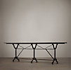 "92"" Factory Zinc & Cast Iron Rectangular Dining Table"