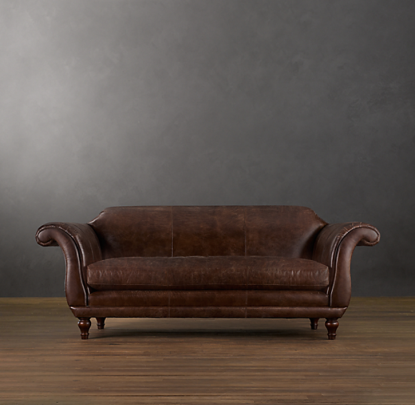 6' Regency Leather Sofa