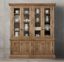 Salvaged Wood Wide Sideboard & Hutch
