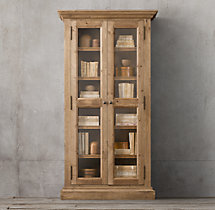Salvaged Wood Glass Door Cabinet